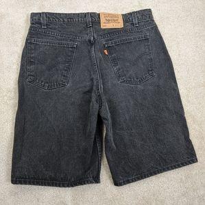 Vintage Levi's Orange Tab 550 Black Denim Shorts